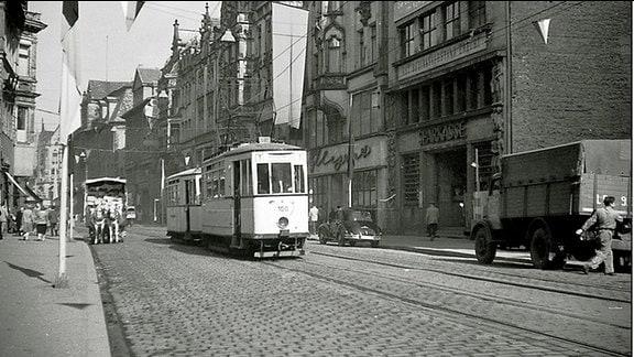 Auf dem Erfurter Anger 1957, Blick Richtung Norden.