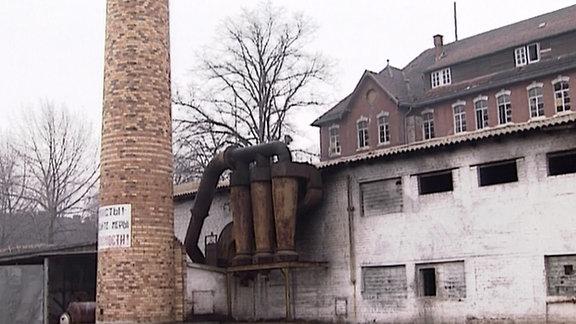 Der Innenhof einer verlassenen Kaserne