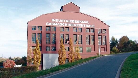 Außenansicht der Gasmaschinenzenrale in Maxhütte.