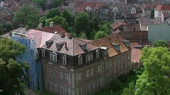 Luftbildaufnahme Neues Palais 1992.