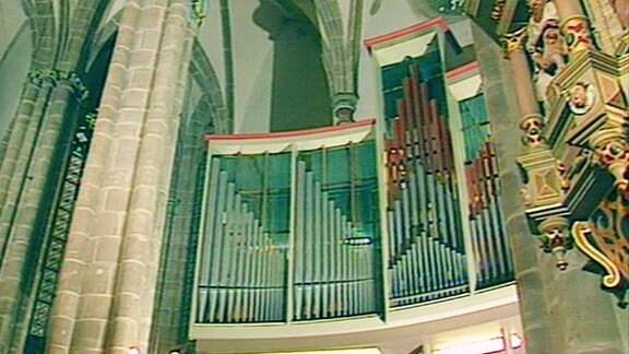 Orgel in Liebfrauenkirche in Arnstadt.