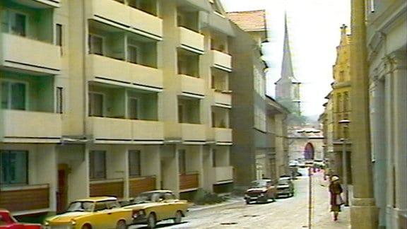 Neubaublock in Arnstadts Innenstadt