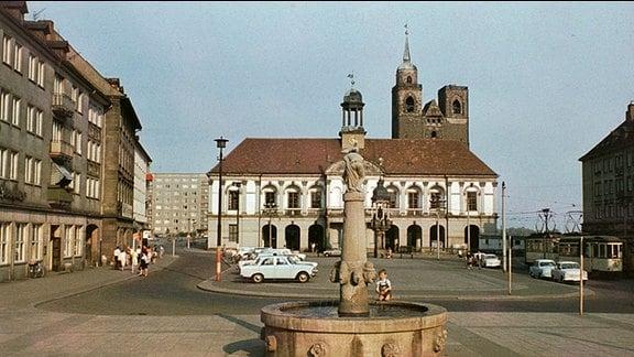 Magdeburger Marktplatz ca.1970.