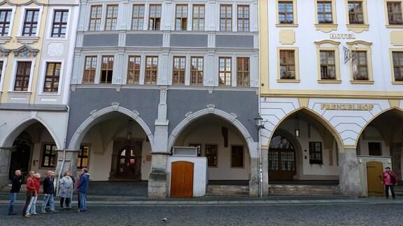 Laubengang am Untermarkt in Görlitz