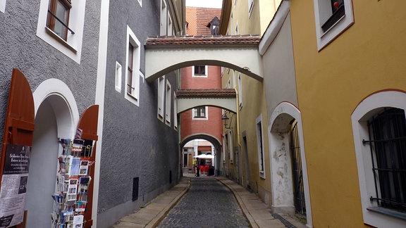 Eine Gasse in der Görlitzer Altstadt