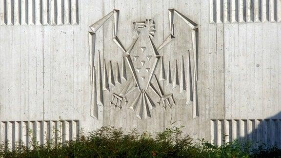 Bundesadler am Eingang der ehemaligen BND-Zentrale Pullach