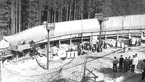 Die Baustelle der Bobbahn.