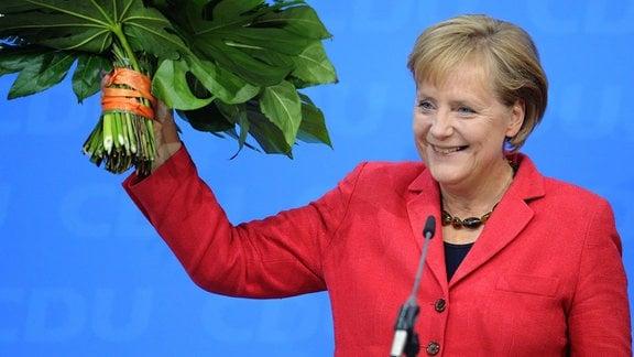 Angela Merkel bei der Bundestagswahl 2009