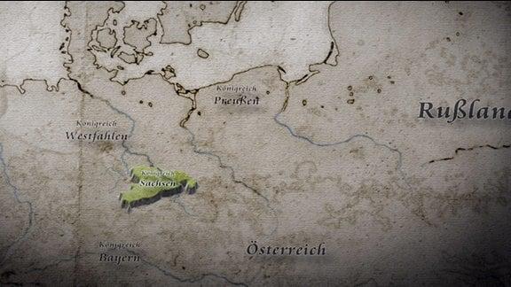 """Szenen aus """"Friedrich August I. und Napoleon - Sachsen am Abgrund"""""""