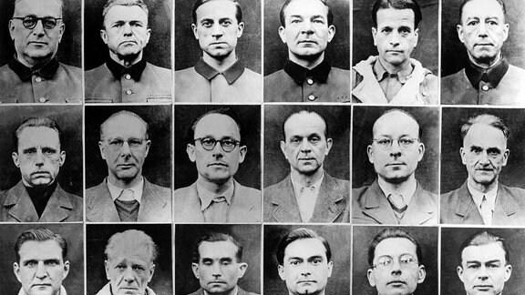 Die Angeklagten im Nürnberger Ärzteprozeß
