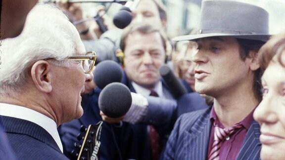 Erich Honecker und Udo Lindenberg (1987)