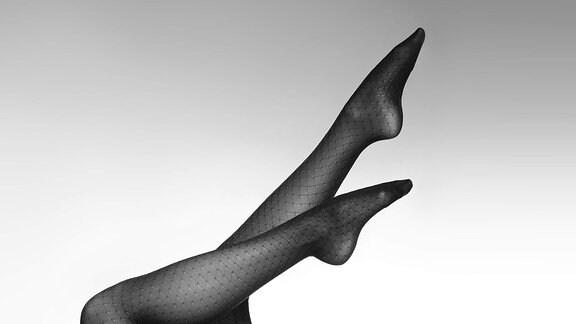 Frauenbeine in Strumpfhose
