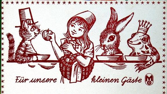 Mitropa Kinder-Speisekarte aus der DDR