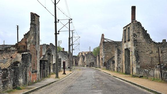 Ruinen von Oradour-sur-Glane Frankreich