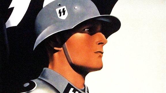 Werbeplakat der Waffen-SS von 1941