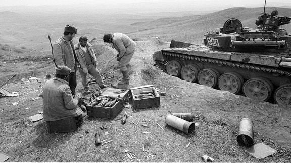 Armenische Soldaten im Kampf um Berg-Karabach 1993