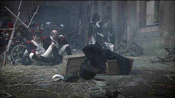 """Szenen aus """"Sachsen am Abgrund - Friedrich August I. und Napoleon"""" in der GMD Reihe zur Geschichte Mitteldeutschlands 2013"""