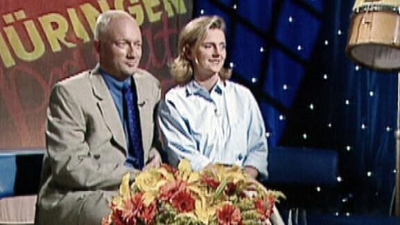 """Die Kammerichs 1999 in der Talkshow """"Thüringen privat""""."""