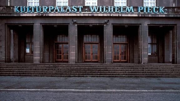 Kulturpalast Wilhelm Pieck in Bitterfeld.
