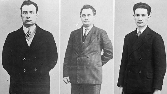 Wassil Konstaninoff Taneff , Georgi Dimitroff und Blagoi Siminoff Popoff