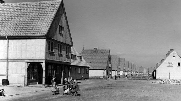 Danziger Dorf in Magdeburg, aufgenommen 1939