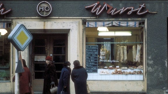 Metzgerei in Köpenick in Berlin Ost 1985