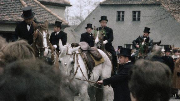 Sorbische Osterreiter in der Lausitz im Jahr 1982