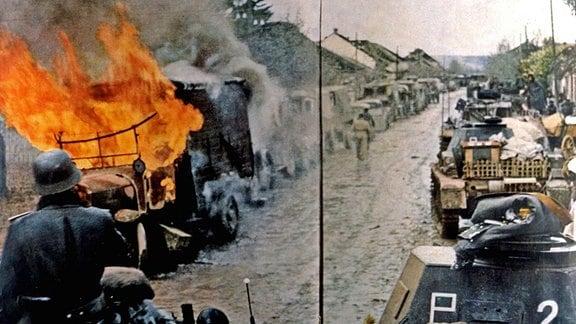 Deutsche Panzer 1941 in Serbien