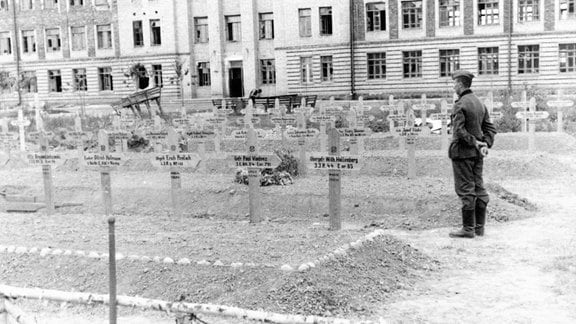 Deutscher Soldatenfriedhof in der Sowjetunion 1941