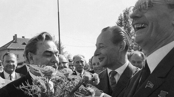 Alexander Dubcek und Leonid Brezhnev