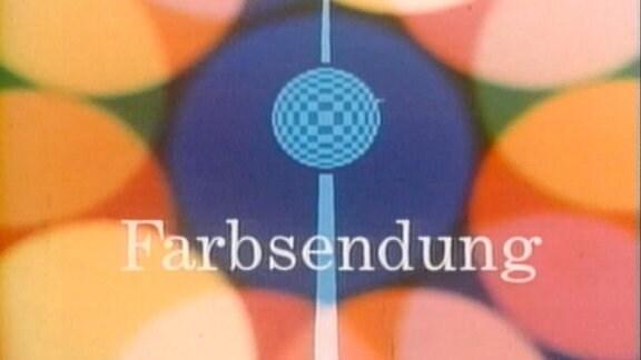 Animation am Begrinn einer Farbsendung mit stilisiertem Fernsehturm