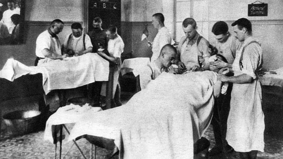 Erster Weltkrieg, Krankenhaus