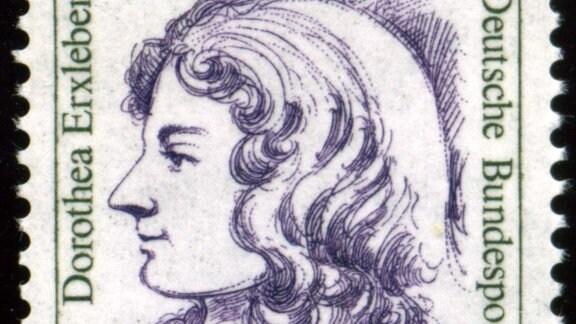 Dorothea Erxleben auf einer Briefmarke der Deutschen Bundespost, 2006