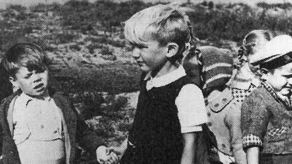 Kinder im Lager in Oksbol.
