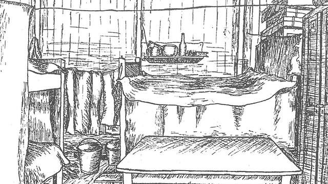 Zeichnung eines Zimmer