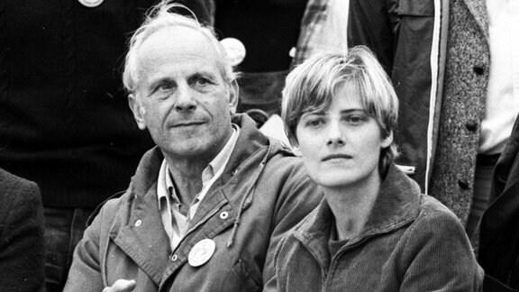Gert Bastian und Petra Kelly October 1981