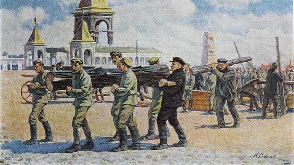 Lenin räumt den Kreml auf