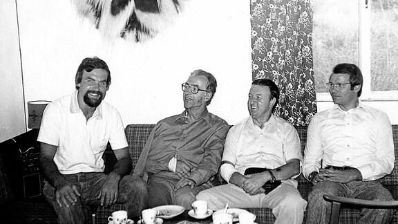 G. Birkenmeier, W. Kirmse, D. Reißig und k. Nissler in Gondar