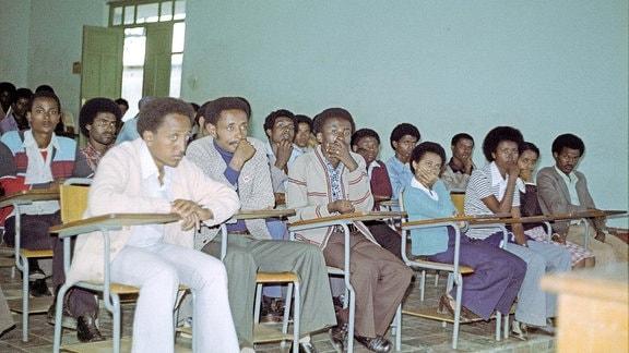 Studenten während der Vorlesung