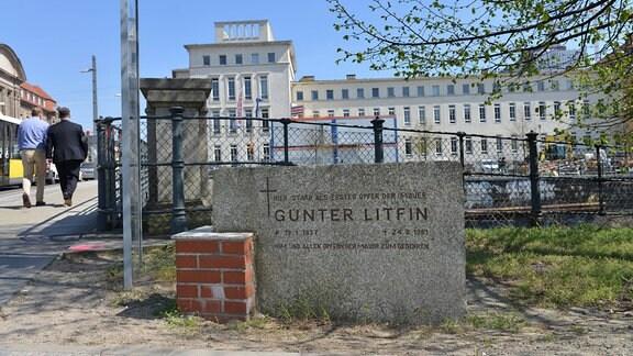 Gedenkstein für Mauertoten Günter Litfin, 2015
