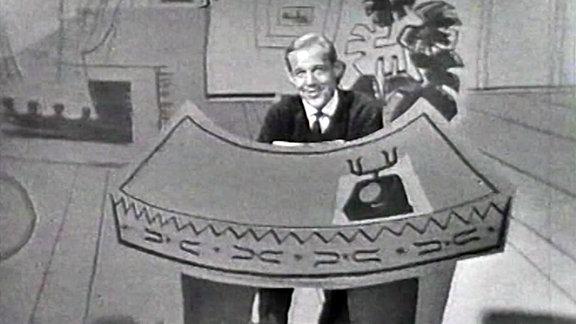 Bild eines Mannes in einer Papiercollage