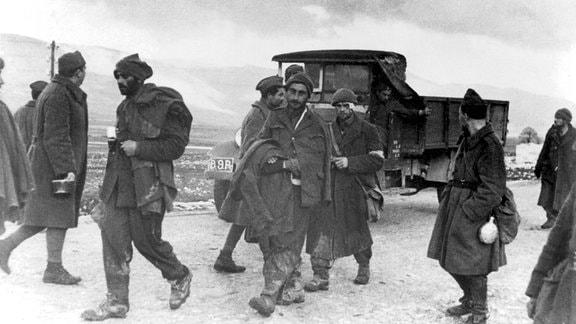 Italienische Kriegsgefangene 1940 in Griechenland