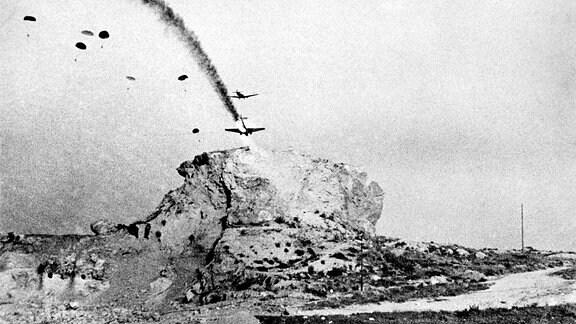 Abschuss von Transportflugzeug während Kreta-Invasion