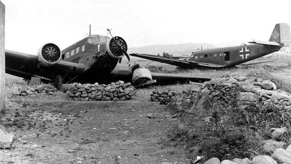 Zerstörte Junkers Ju 52