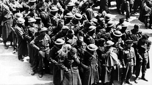 Gefangene Briten auf Kreta im Juni 1941