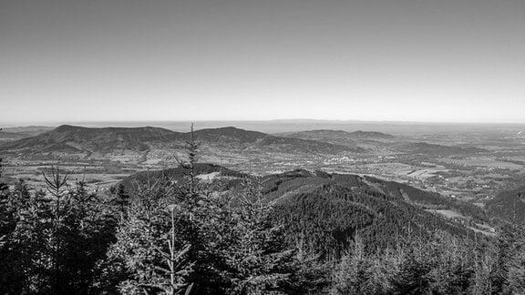 Beskiden-Landschaft in Nordmähren Tschechien