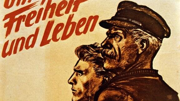 NS-Propagandaplakat zum Volkssturm