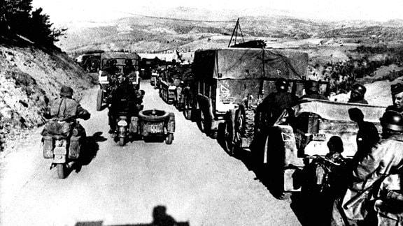 Vormarsch schneller Wehrmacht-Truppen in Jugoslawien April 1941