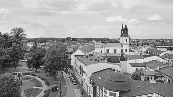 Zentrum der Kleinstadt Wielun in Polen 2019