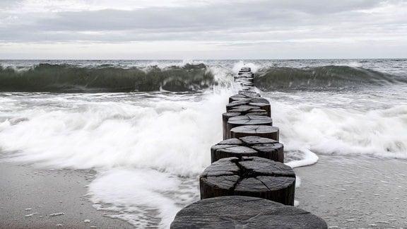 Stürmische See.